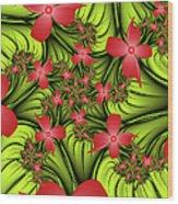 In A Flower Meadow Wood Print