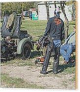 Harley Davidson History Lesson Wood Print