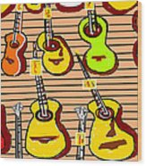 In A Music Shop Wood Print