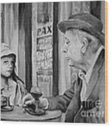 In A Parisian Cafe Wood Print