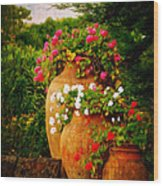 In A Portuguese Garden - Digital Oil Wood Print