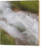 In A Rush Wood Print
