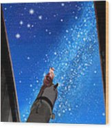 In Awe Of Andromeda And The Milky Way Wood Print
