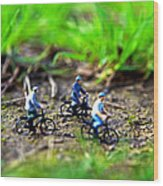 In Bicicletta Nel Bosco Incantato Wood Print