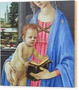 In Blue Wood Print