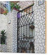 In Capri Wood Print
