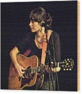 In Concert With Folk Singer Pieta Brown Wood Print
