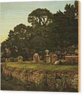In Country Churchyard Wittington Worcester Wood Print