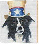 In Dog We Trust Wood Print