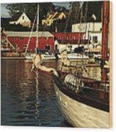 In Harbor Wood Print by Karol Livote