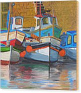 In Harbor Wood Print
