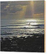 In Heavens Spotlight Wood Print