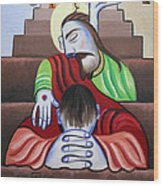 In Jesus Name Wood Print