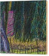In Leaf Fall Wood Print