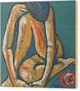 In Love - Female Nude Wood Print