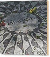 In Memory Of John Lennon - Imagine Wood Print