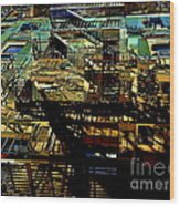 In Perspective - Fire Escapes - Old Buildings Of New York City Wood Print