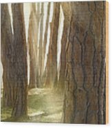 In Pine Forest Wood Print