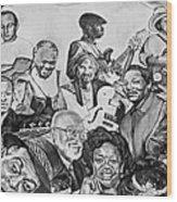 In Praise Of Jazz V Wood Print
