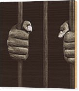 In Prison Wood Print by Chevy Fleet
