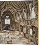 Faith In Ruins Wood Print
