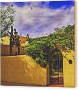 In Santa Fe - New Mexico Wood Print