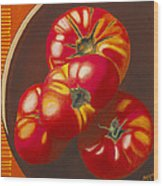 In Search Of The Perfect Tomato Wood Print