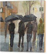 In spite of rain Wood Print