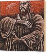 In The Arms Of Christ Wood Print