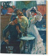 In The Bar Wood Print
