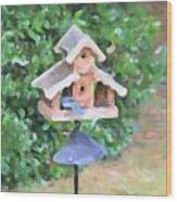 In The Birdhouse - Oil Wood Print