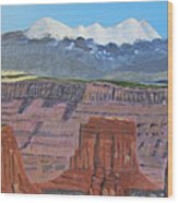 In The Canyonlands Utah Wood Print