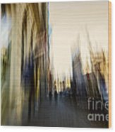 In The Canyons Of The City Wood Print