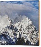 The Teton Range Wood Print