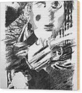 In The Days Of Arhashwerus Wood Print by Herb Stern