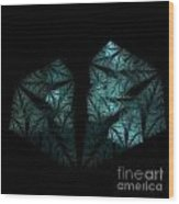 In The Deep Dark Forest Wood Print