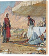 In The Desert Of Mount Sinai Wood Print
