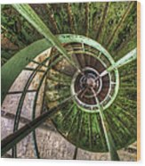 In The Eye Of The Spiral  Wood Print