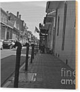 In The French Quarter Wood Print