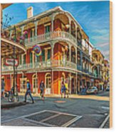 In The French Quarter - Paint Wood Print