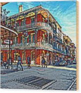 In The French Quarter Painted Wood Print