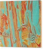 In The Garden Of Abstract Wood Print