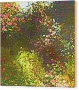 In The Garden Wood Print by Pamela Cooper