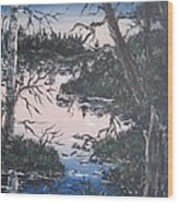 In The Gloaming 2 Wood Print