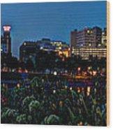 In The Glow Of Harrisburg Wood Print