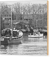 In The Harbor Wood Print by Becca Brann