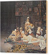 In The Harem Wood Print by Jose Gallegos Arnosa