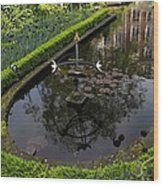 In The Heart Of Amsterdam Hidden Tranquility  Wood Print