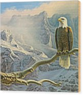 In The High Country-eagle Wood Print