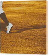 In The Infield Wood Print